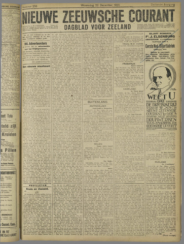 Nieuwe Zeeuwsche Courant 1920-12-22