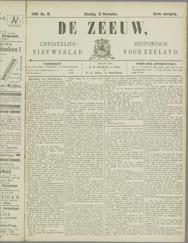 De Zeeuw. Christelijk-historisch nieuwsblad voor Zeeland 1888-11-13