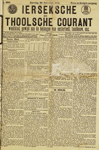 Ierseksche en Thoolsche Courant 1915-11-20