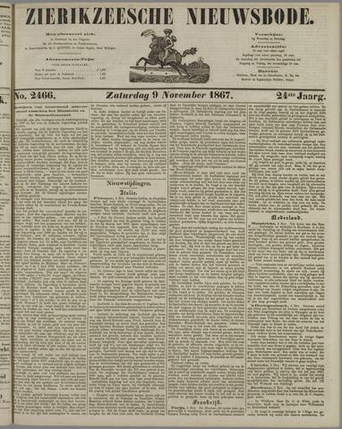 Zierikzeesche Nieuwsbode 1867-11-09