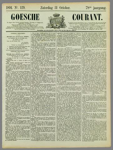 Goessche Courant 1891-10-31