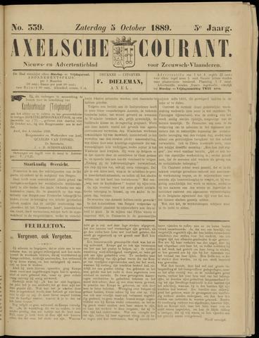 Axelsche Courant 1889-10-05