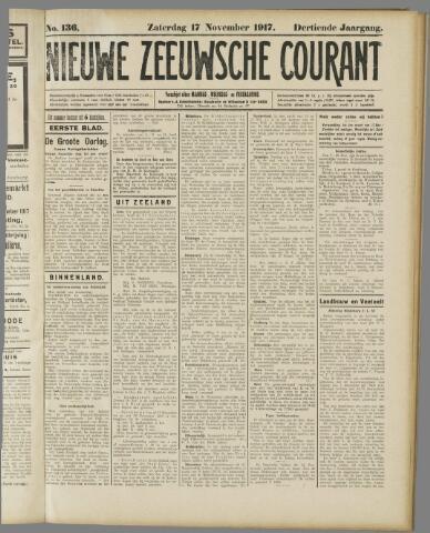 Nieuwe Zeeuwsche Courant 1917-11-17