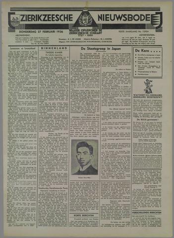 Zierikzeesche Nieuwsbode 1936-02-27