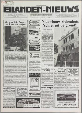 Eilanden-nieuws. Christelijk streekblad op gereformeerde grondslag 1989-11-17