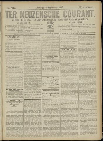 Ter Neuzensche Courant. Algemeen Nieuws- en Advertentieblad voor Zeeuwsch-Vlaanderen / Neuzensche Courant ... (idem) / (Algemeen) nieuws en advertentieblad voor Zeeuwsch-Vlaanderen 1920-09-28