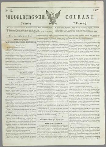 Middelburgsche Courant 1857-02-07
