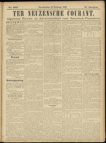 Ter Neuzensche Courant. Algemeen Nieuws- en Advertentieblad voor Zeeuwsch-Vlaanderen / Neuzensche Courant ... (idem) / (Algemeen) nieuws en advertentieblad voor Zeeuwsch-Vlaanderen 1919-10-16