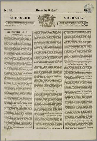 Goessche Courant 1849-04-09