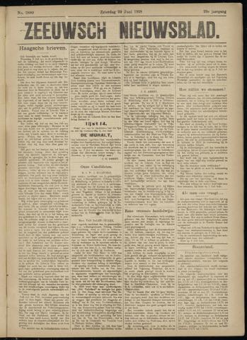 Ter Neuzensch Volksblad. Vrijzinnig nieuws- en advertentieblad voor Zeeuwsch- Vlaanderen / Zeeuwsch Nieuwsblad. Nieuws- en advertentieblad voor Zeeland 1918-06-29