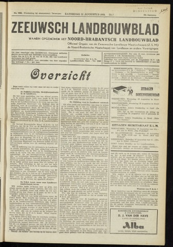 Zeeuwsch landbouwblad ... ZLM land- en tuinbouwblad 1951-08-11