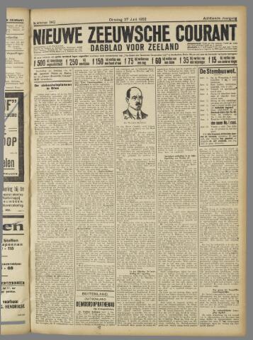Nieuwe Zeeuwsche Courant 1922-06-27