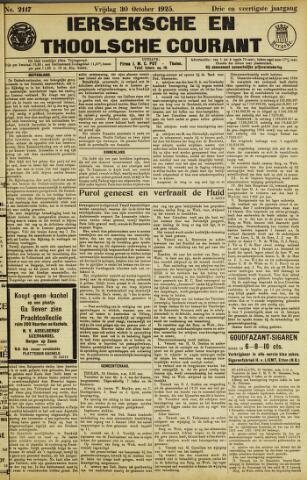 Ierseksche en Thoolsche Courant 1925-10-30