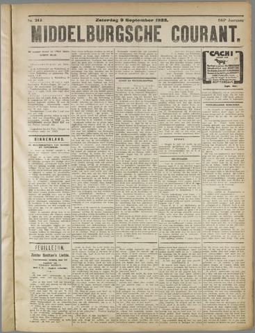 Middelburgsche Courant 1922-09-09