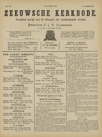 Zeeuwsche kerkbode, weekblad gewijd aan de belangen der gereformeerde kerken/ Zeeuwsch kerkblad 1890-03-15