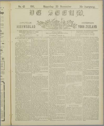 De Zeeuw. Christelijk-historisch nieuwsblad voor Zeeland 1911-11-20