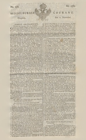 Middelburgsche Courant 1761-11-17