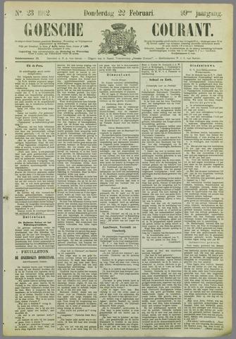 Goessche Courant 1912-02-22
