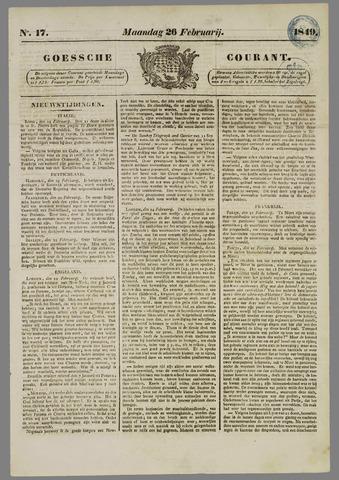 Goessche Courant 1849-02-26