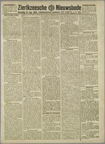 Zierikzeesche Nieuwsbode 1922-08-14