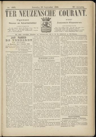 Ter Neuzensche Courant. Algemeen Nieuws- en Advertentieblad voor Zeeuwsch-Vlaanderen / Neuzensche Courant ... (idem) / (Algemeen) nieuws en advertentieblad voor Zeeuwsch-Vlaanderen 1880-09-25