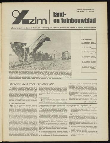 Zeeuwsch landbouwblad ... ZLM land- en tuinbouwblad 1971-09-17