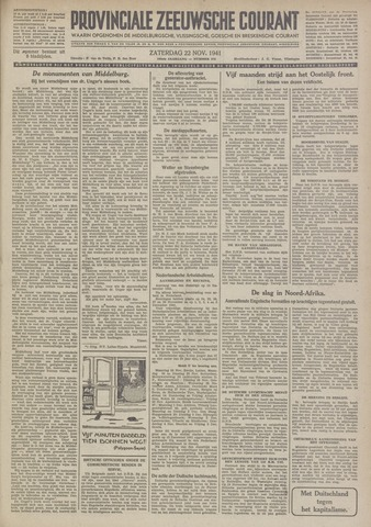 Provinciale Zeeuwse Courant 1941-11-22