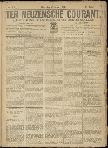 Ter Neuzensche Courant. Algemeen Nieuws- en Advertentieblad voor Zeeuwsch-Vlaanderen / Neuzensche Courant ... (idem) / (Algemeen) nieuws en advertentieblad voor Zeeuwsch-Vlaanderen 1921-01-03