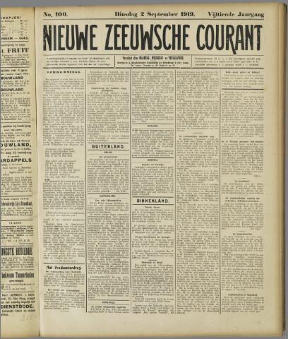 Nieuwe Zeeuwsche Courant 1919-09-02