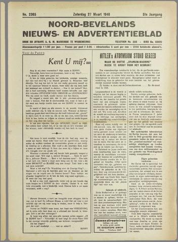Noord-Bevelands Nieuws- en advertentieblad 1948-03-27