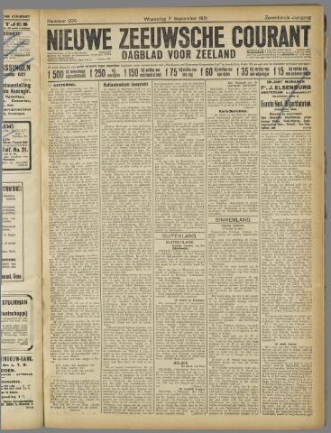 Nieuwe Zeeuwsche Courant 1921-09-07