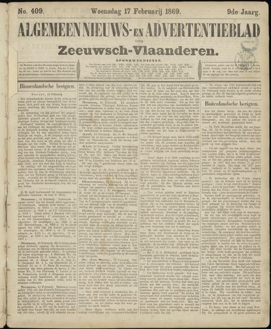 Ter Neuzensche Courant. Algemeen Nieuws- en Advertentieblad voor Zeeuwsch-Vlaanderen / Neuzensche Courant ... (idem) / (Algemeen) nieuws en advertentieblad voor Zeeuwsch-Vlaanderen 1869-02-17