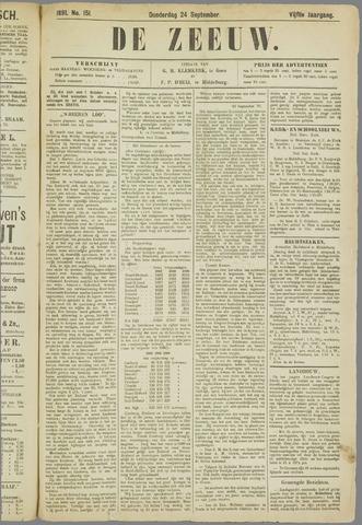 De Zeeuw. Christelijk-historisch nieuwsblad voor Zeeland 1891-09-24