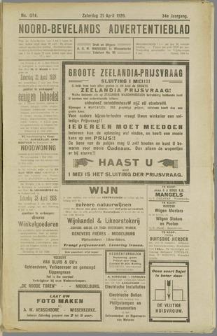 Noord-Bevelands Nieuws- en advertentieblad 1928-04-21