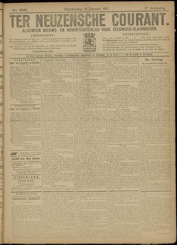 Ter Neuzensche Courant. Algemeen Nieuws- en Advertentieblad voor Zeeuwsch-Vlaanderen / Neuzensche Courant ... (idem) / (Algemeen) nieuws en advertentieblad voor Zeeuwsch-Vlaanderen 1917-01-25