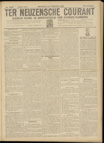 Ter Neuzensche Courant. Algemeen Nieuws- en Advertentieblad voor Zeeuwsch-Vlaanderen / Neuzensche Courant ... (idem) / (Algemeen) nieuws en advertentieblad voor Zeeuwsch-Vlaanderen 1936-02-24