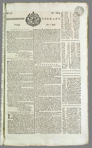 Zierikzeesche Courant 1814-07-01