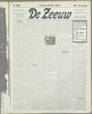 De Zeeuw. Christelijk-historisch nieuwsblad voor Zeeland 1924-05-23