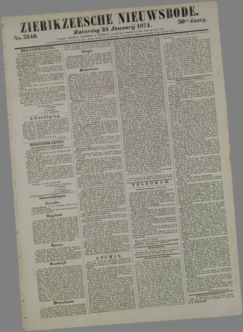 Zierikzeesche Nieuwsbode 1874-01-24