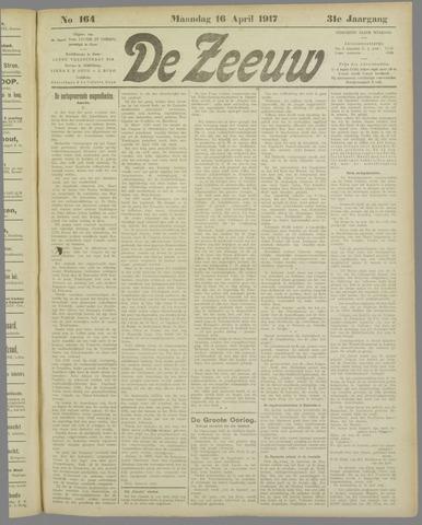 De Zeeuw. Christelijk-historisch nieuwsblad voor Zeeland 1917-04-16