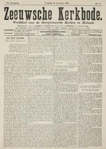 Zeeuwsche kerkbode, weekblad gewijd aan de belangen der gereformeerde kerken/ Zeeuwsch kerkblad 1923-01-26