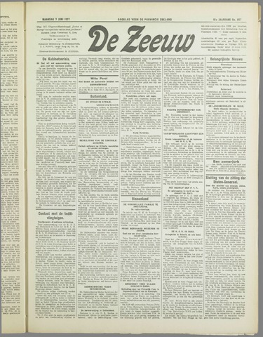 De Zeeuw. Christelijk-historisch nieuwsblad voor Zeeland 1937-06-07