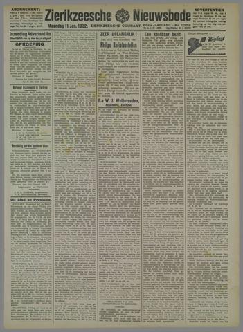Zierikzeesche Nieuwsbode 1932-01-11