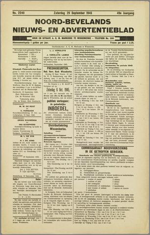 Noord-Bevelands Nieuws- en advertentieblad 1945-09-29