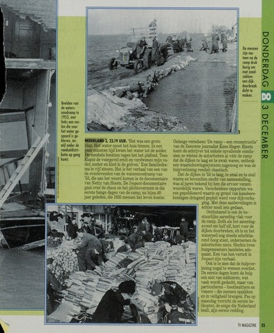 Watersnood documentatie 1953 - krantenknipsels 1992-01-01