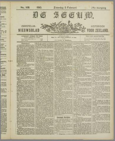 De Zeeuw. Christelijk-historisch nieuwsblad voor Zeeland 1910-02-05