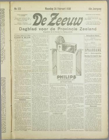 De Zeeuw. Christelijk-historisch nieuwsblad voor Zeeland 1930-02-24