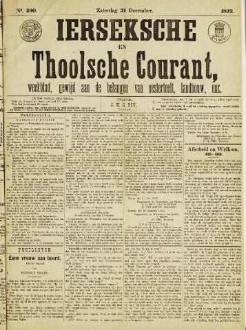 Ierseksche en Thoolsche Courant 1892-12-31