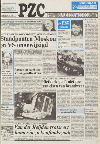 Provinciale Zeeuwse Courant 1985-11-06