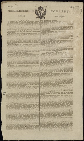 Middelburgsche Courant 1814-07-16